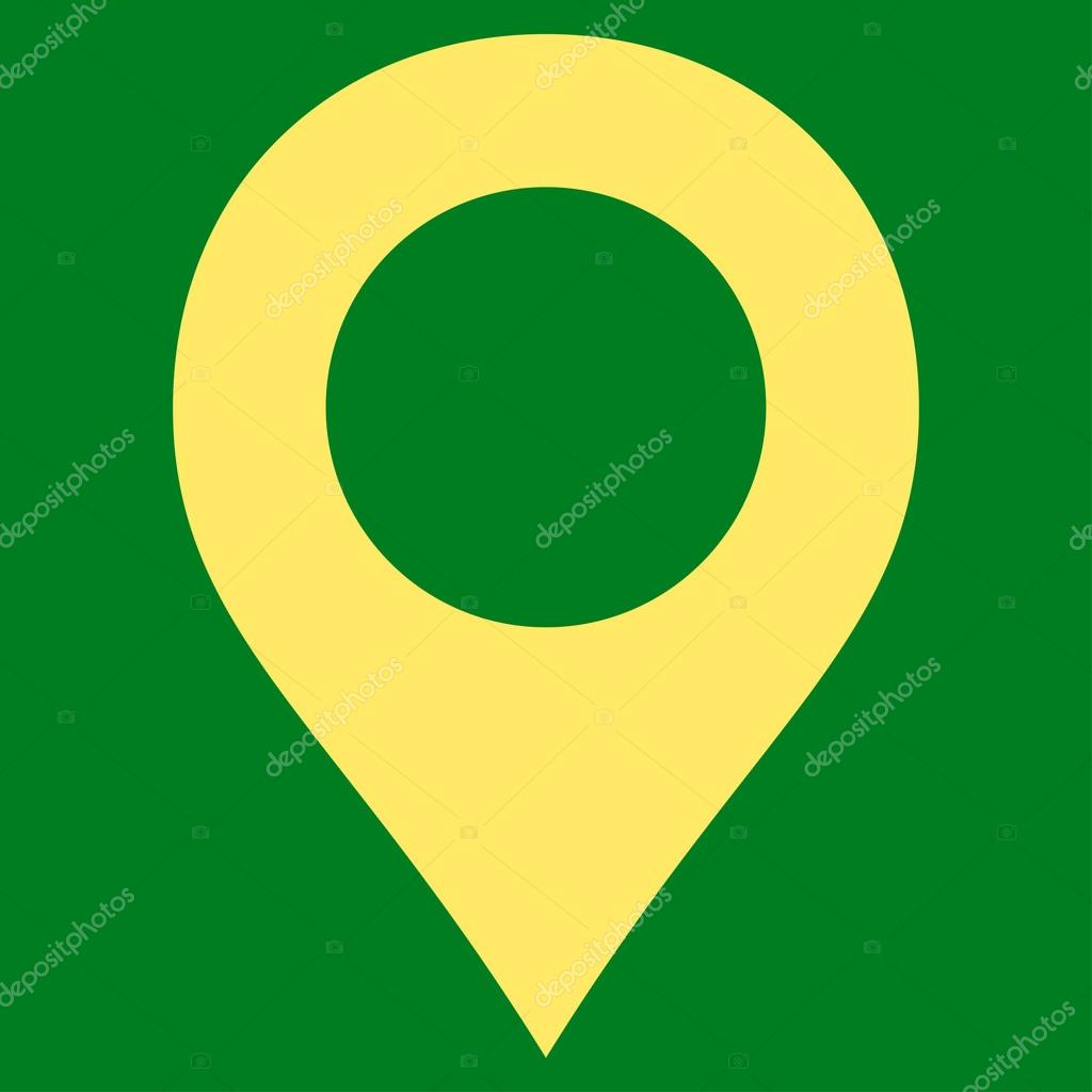 Map Marker flat yellow color icon — Stock Vector © ahasoft #84565874