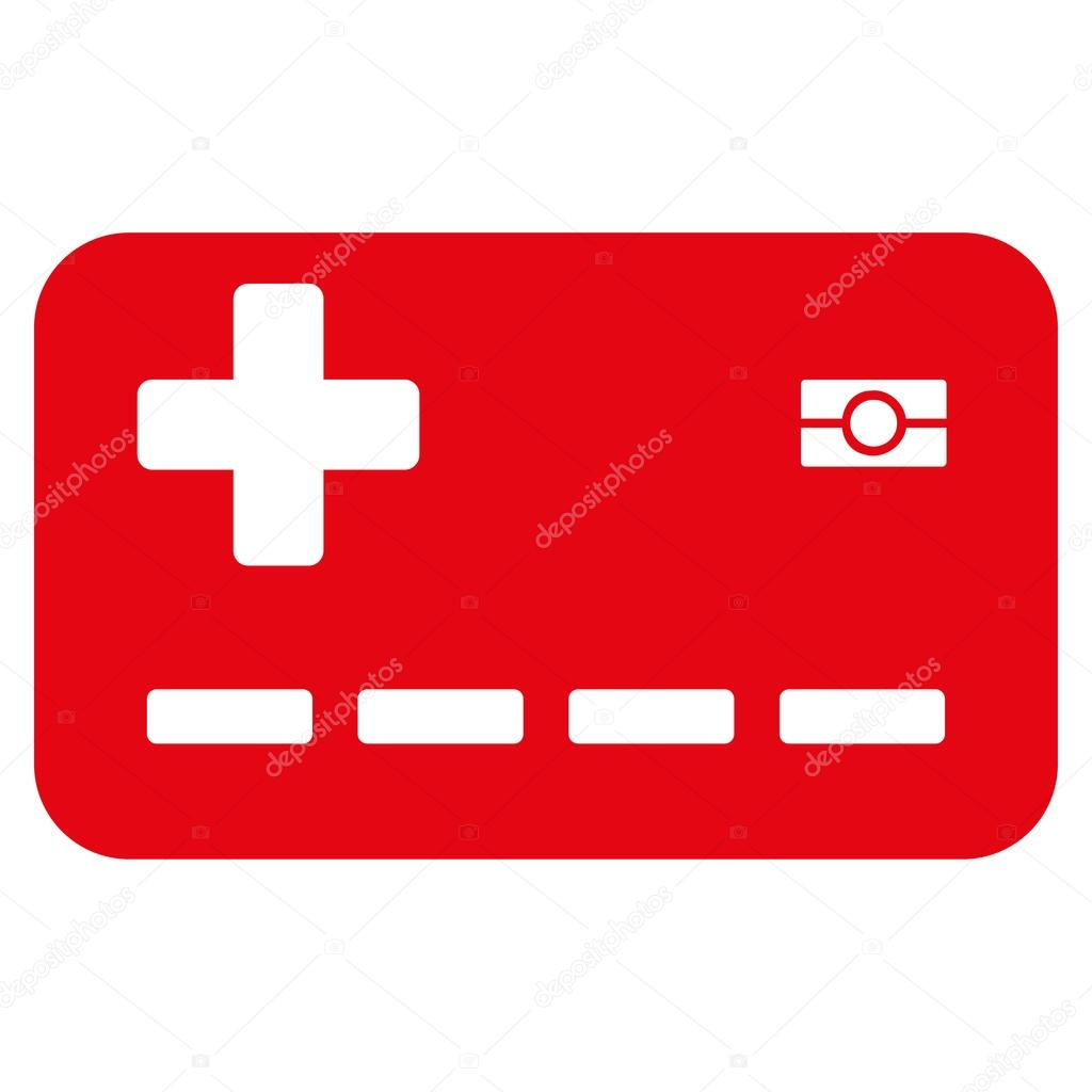 medical insurance card icon stock vector