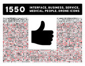 Thumb Up Icon and More Interface, Business, Tools, People, Medical, Awards Flat Vector Icons