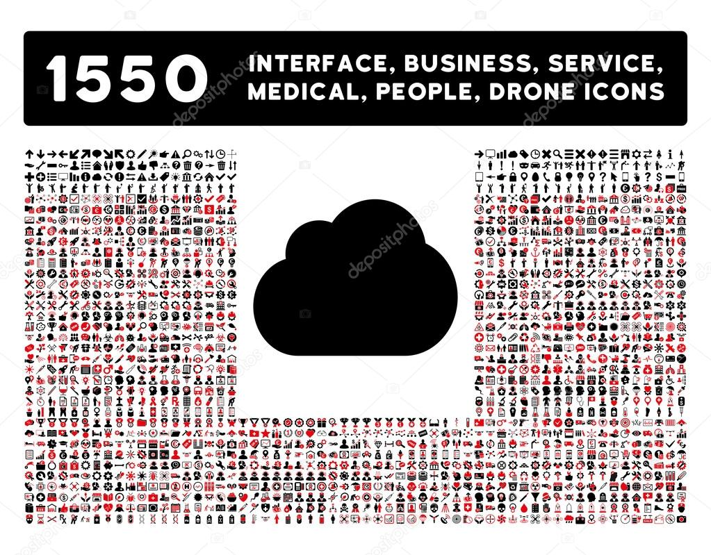 Cloud Icon and More Interface, Business, Tools, People, Medical, Awards Flat Vector Icons