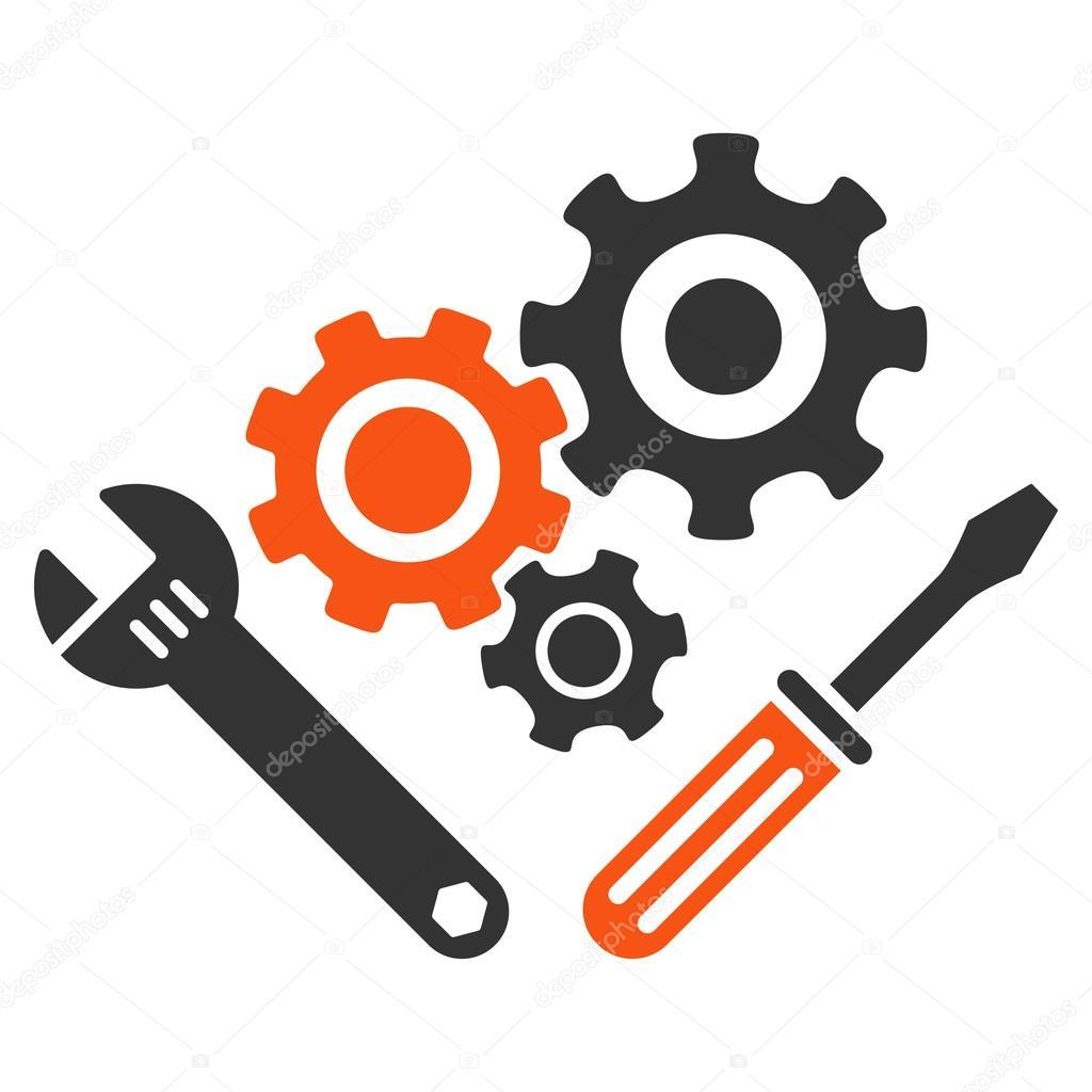 Famosos Ícone de ferramentas de mecânica — Vetores de Stock © ahasoft  ZK25