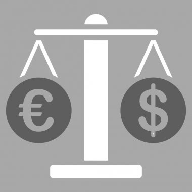 Euro and Dollar Scales Icon