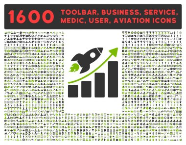 Startup Icon with Large Pictogram Collection