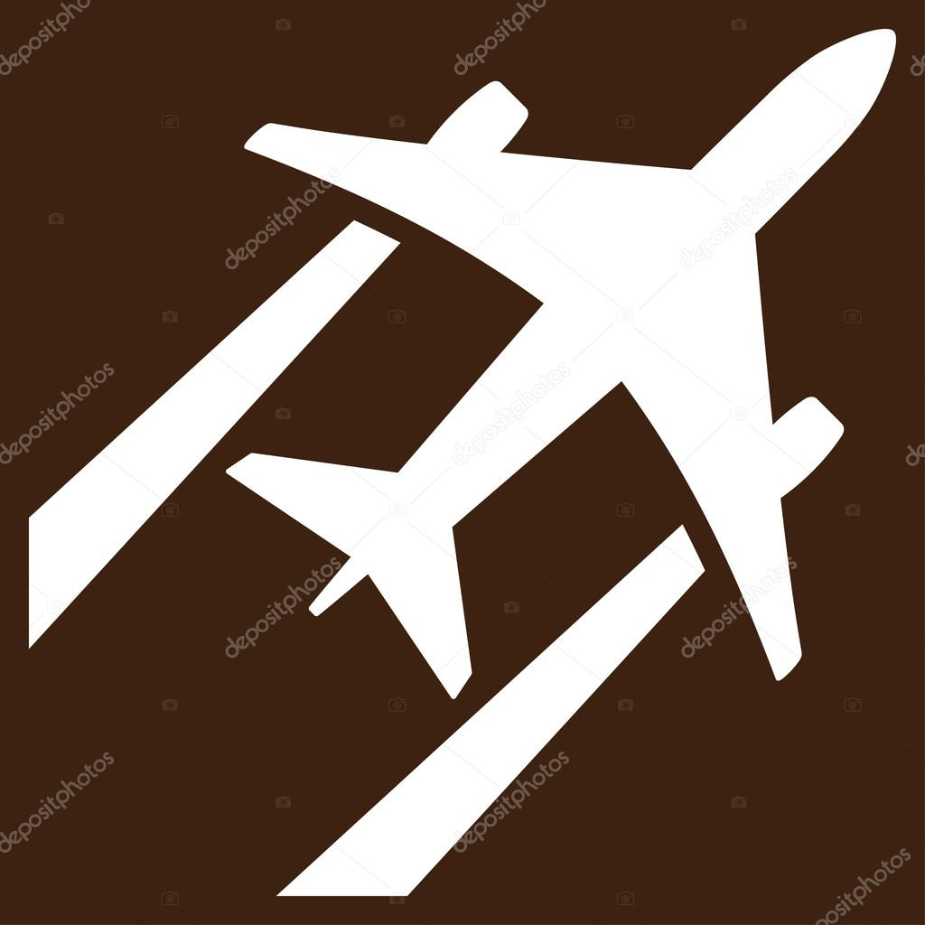 Air Jet Trace Flat Icon