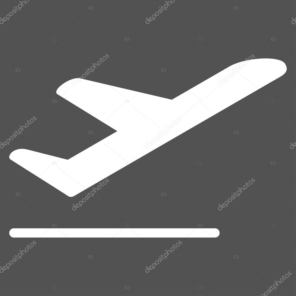 Airplane Departure Flat Icon Stock Vector