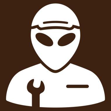 Alien Serviceman Flat Icon