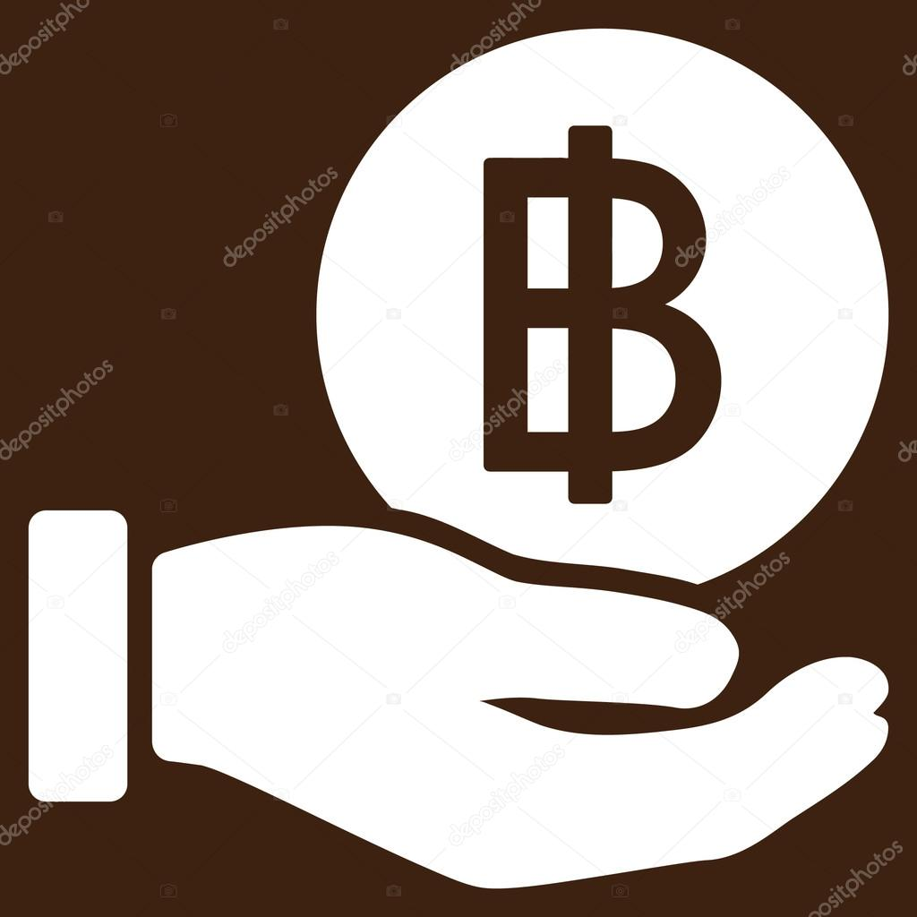 Thai Baht Coin Payment Flat Icon Stock Vector Ahasoft 87840588