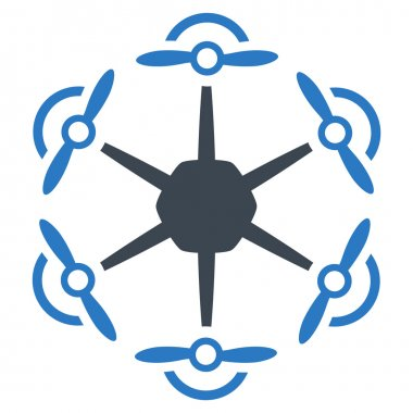 Flying Hexacopter Icon