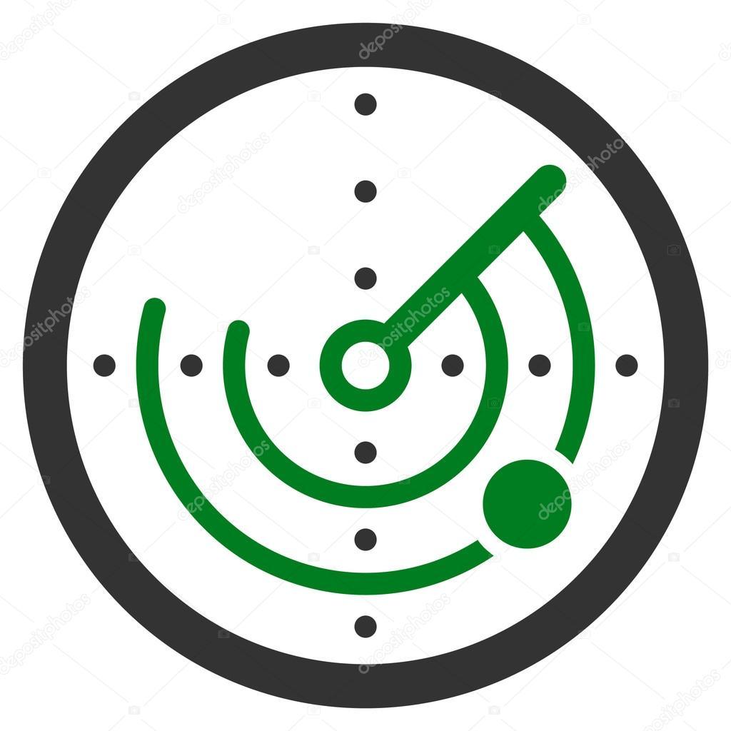 Runde Radar Symbol Stockvektor Ahasoft 88033222