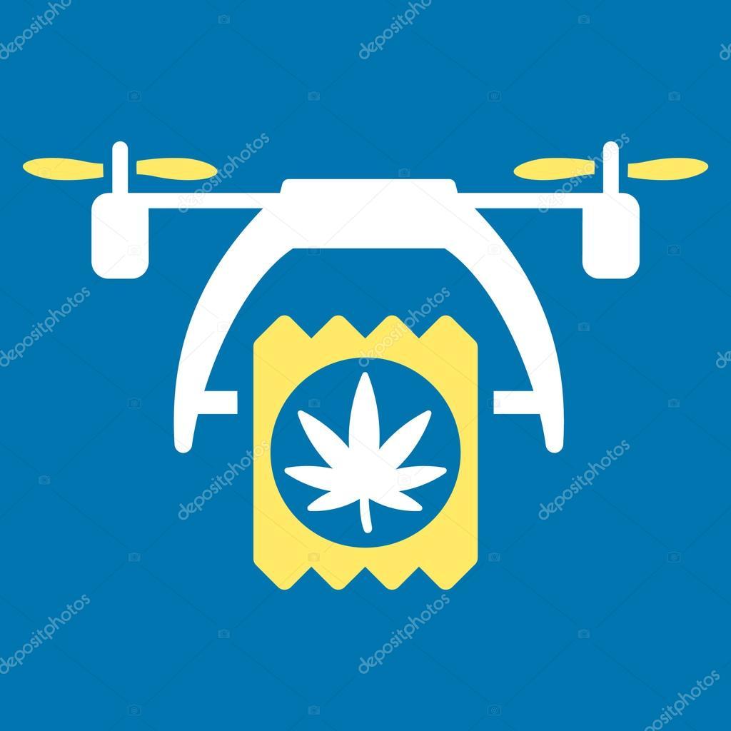 Cannabis Drone Delivery Icon