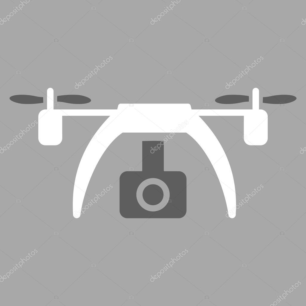 Drone Video Camera Icon Stock Vector