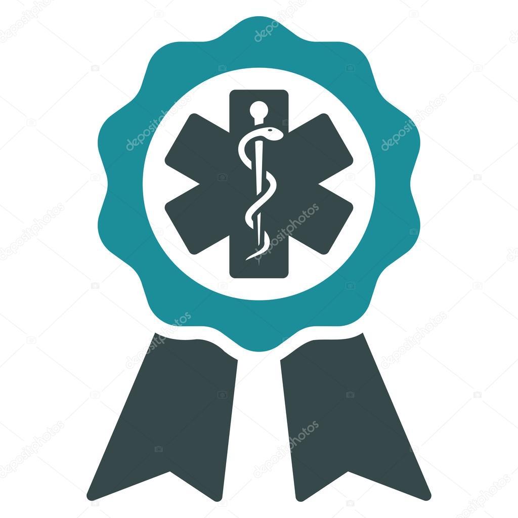 medical seal icon stock vector ahasoft 88256532 rh depositphotos com Oval Seal Vector Oval Seal Vector