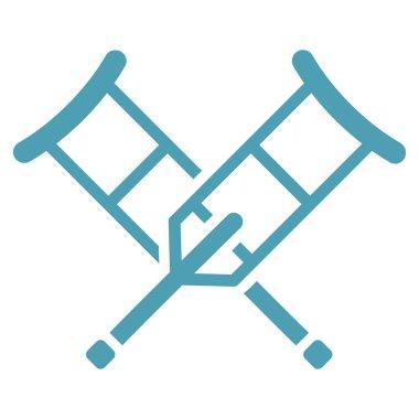 Crutches Flat Icon