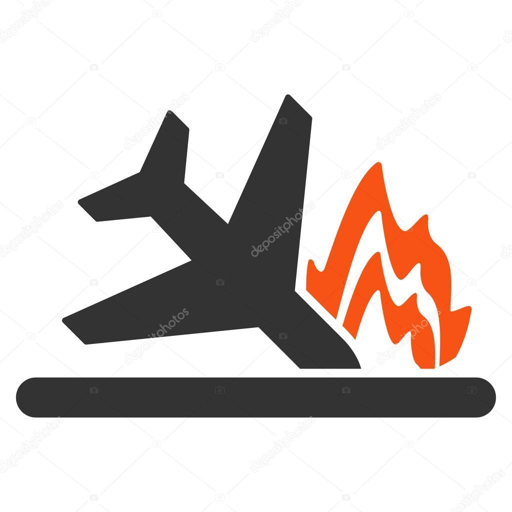 Airplane Crash Icon