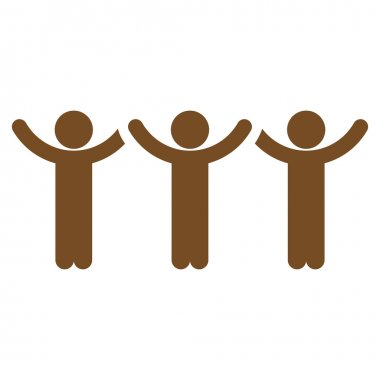 Community Hands Up Roundelay Icon