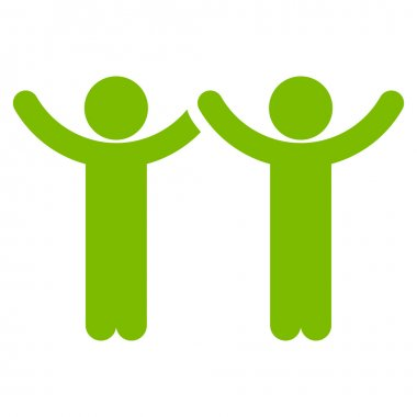 Hands Up Users Icon