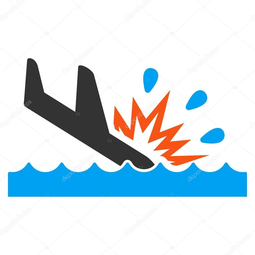 Water Air Crash Icon