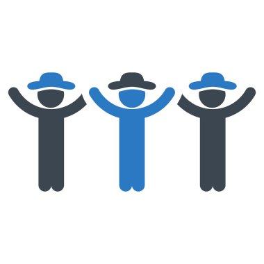 Gentlemen Hands Up Roundelay Icon