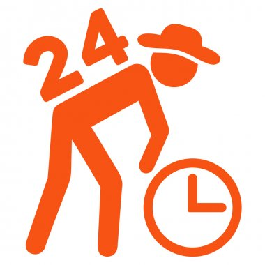 Around The Clock Work Icon