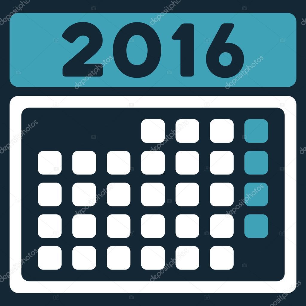 2016 Month Calendar Ic...