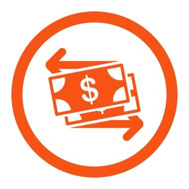 Money Exchange Rounded Vector Icon