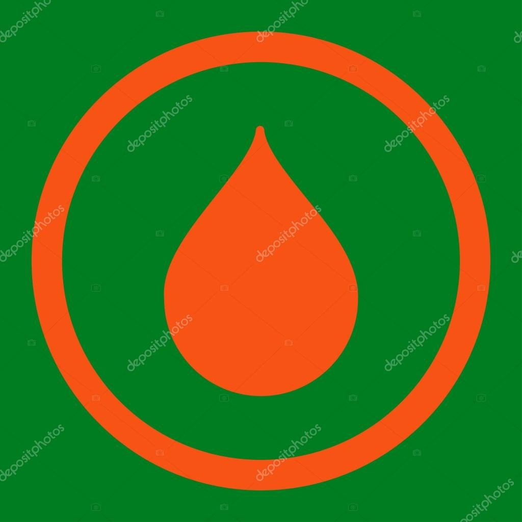 Drop Rounded Vector Icon