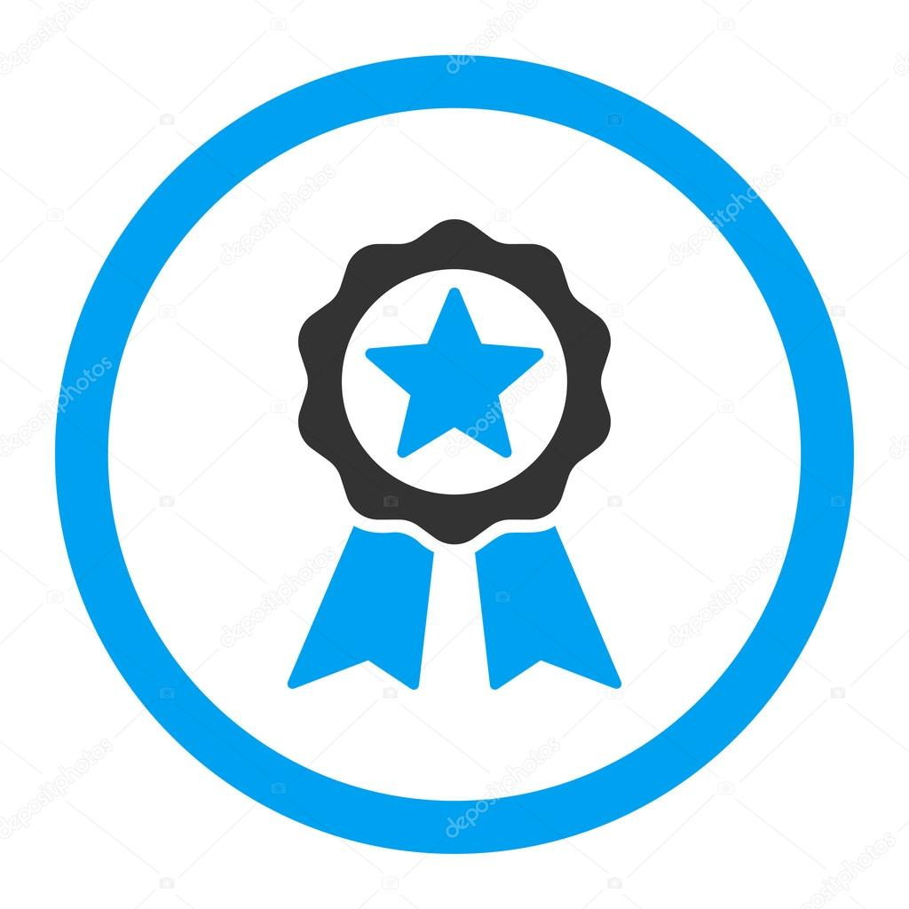 Certification seal rounded vector icon stock vector ahasoft certification seal vector icon style is bicolor flat rounded symbol blue and gray colors rounded angles white background vector by ahasoft buycottarizona