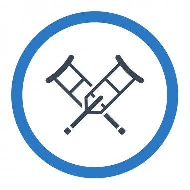 Crutches Rounded Vector Icon
