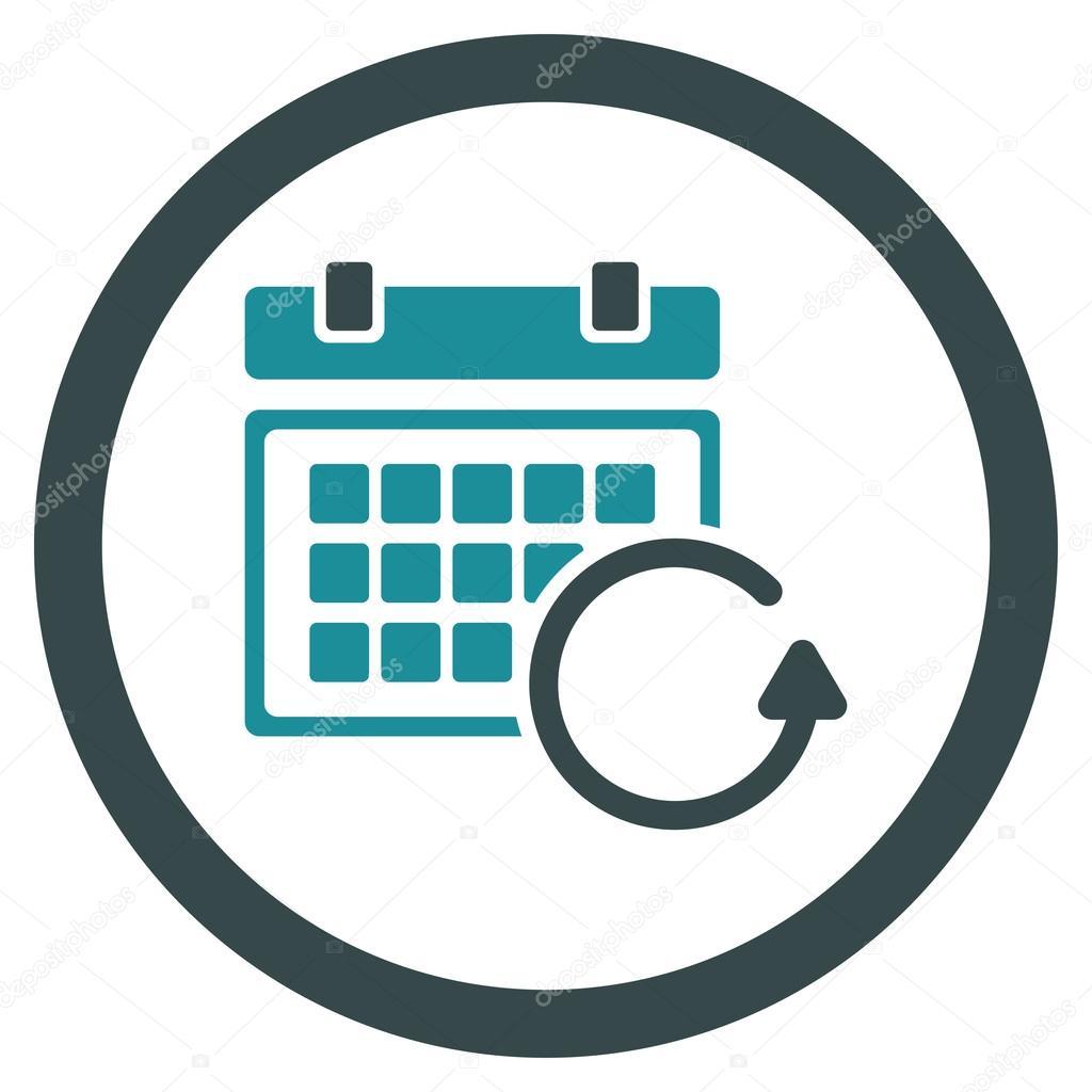 Actualizar Calendario.Actualizar El Icono De Calendario Vector De Stock