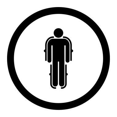 Exoskeleton Circled Vector Icon