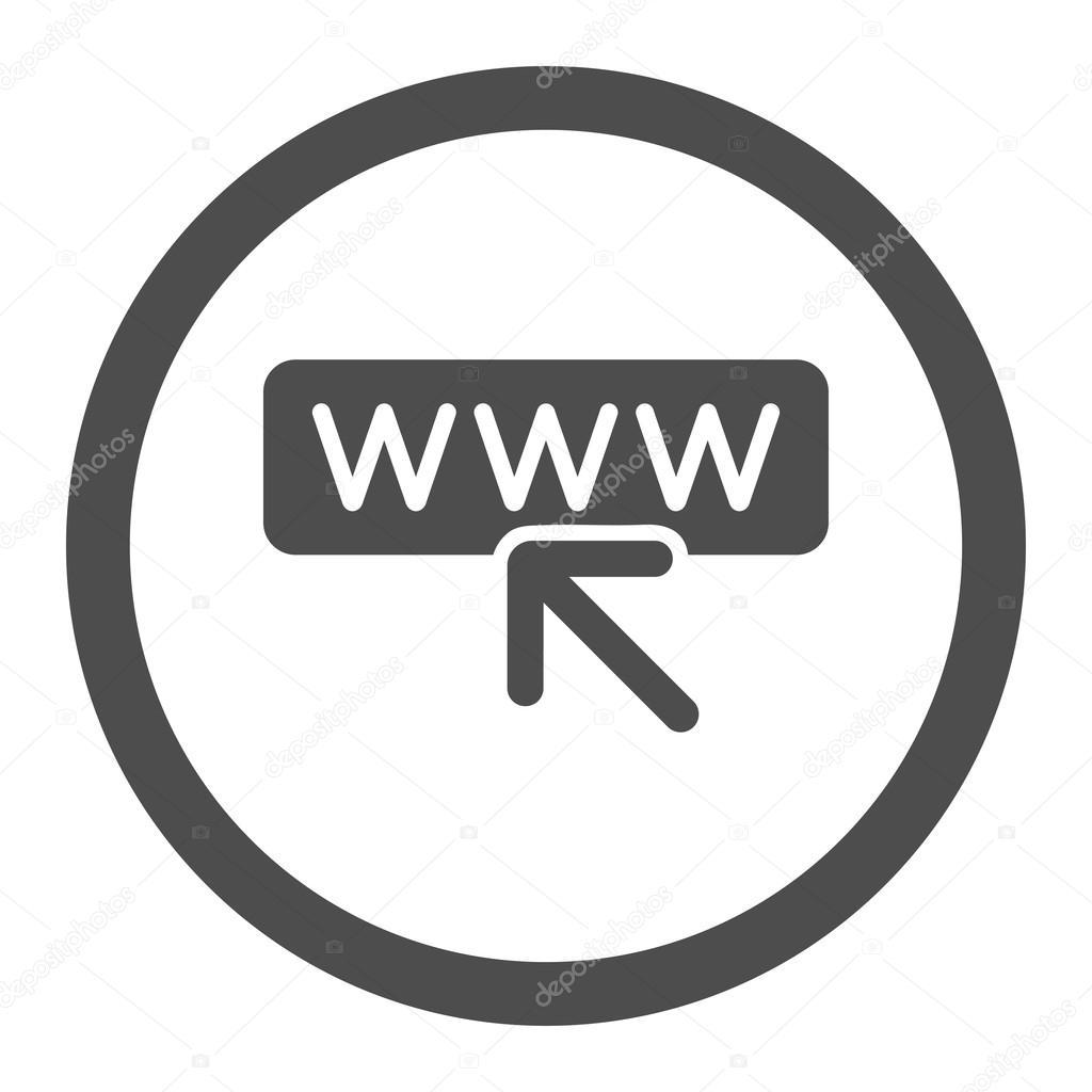 97c0cb0144421 Icono de vector de seleccione Página Web. Estilo es símbolo redondeado  plano