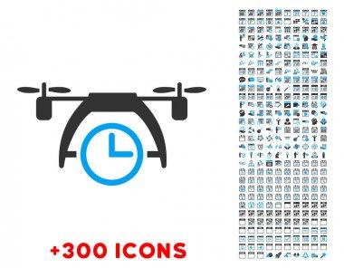 Drone Clock Icon
