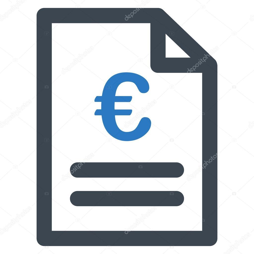euro rechnung symbol stockvektor ahasoft 91688690. Black Bedroom Furniture Sets. Home Design Ideas