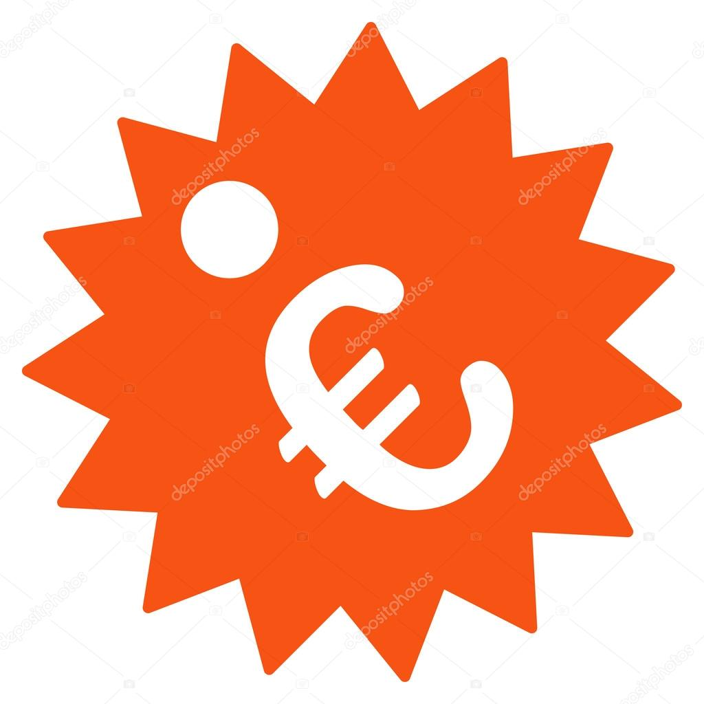 Euro price tag icon stock vector ahasoft 91693182 euro price tag vector icon style is flat symbol orange color rounded angles white background vector by ahasoft biocorpaavc