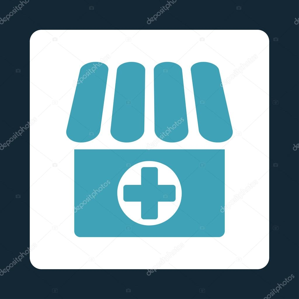 Medical Store Flat Button Stock Vector Ahasoft 92118968