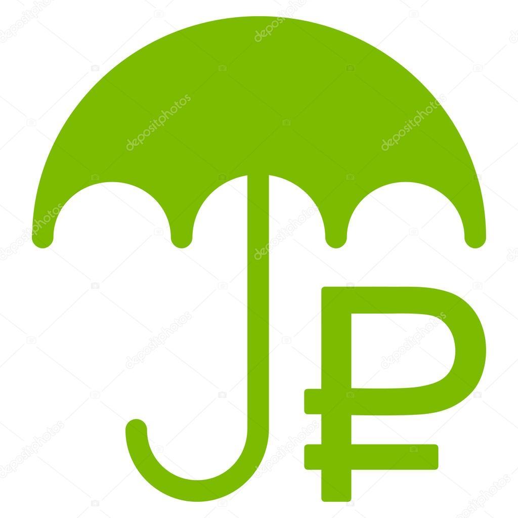 Rouble Umbrella Icon — Stock Vector © ahasoft #92863364