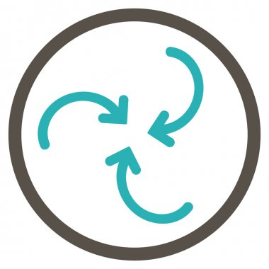 Whirl Arrows Rounded Icon