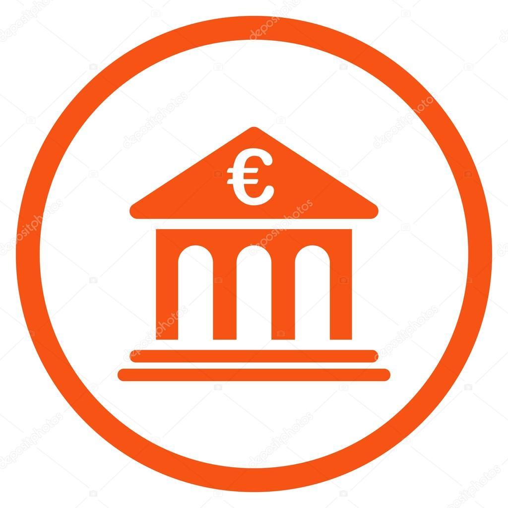 Bank van de eurozone afgerond pictogram stockvector ahasoft 96577428 - Afgeronde bank ...