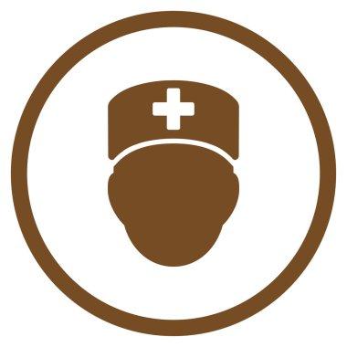 Doctor Head Circled Icon
