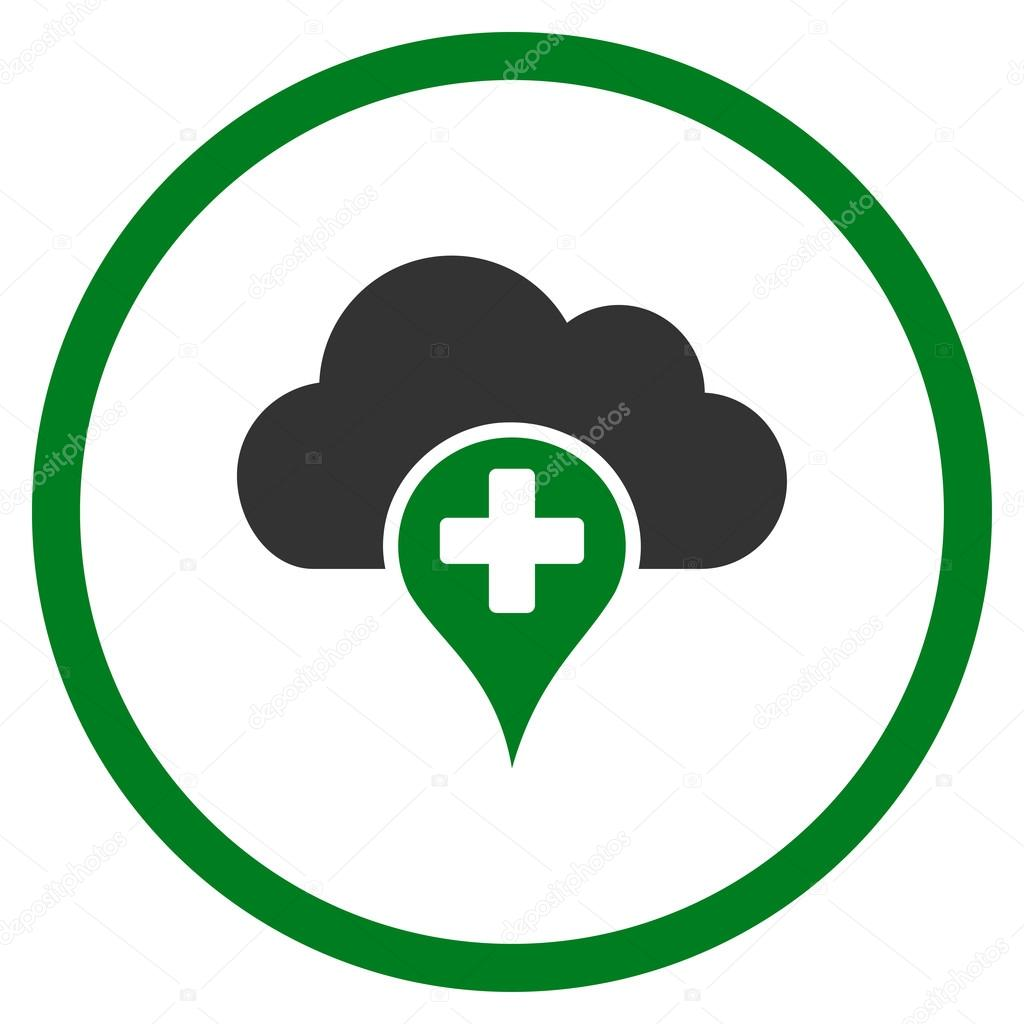 Medical Cloud Rounded Icon