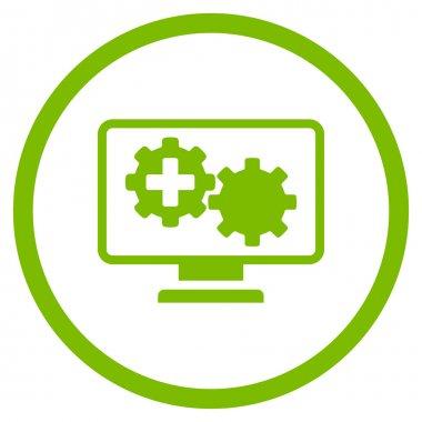 Medical Process Monitoring Circled Icon