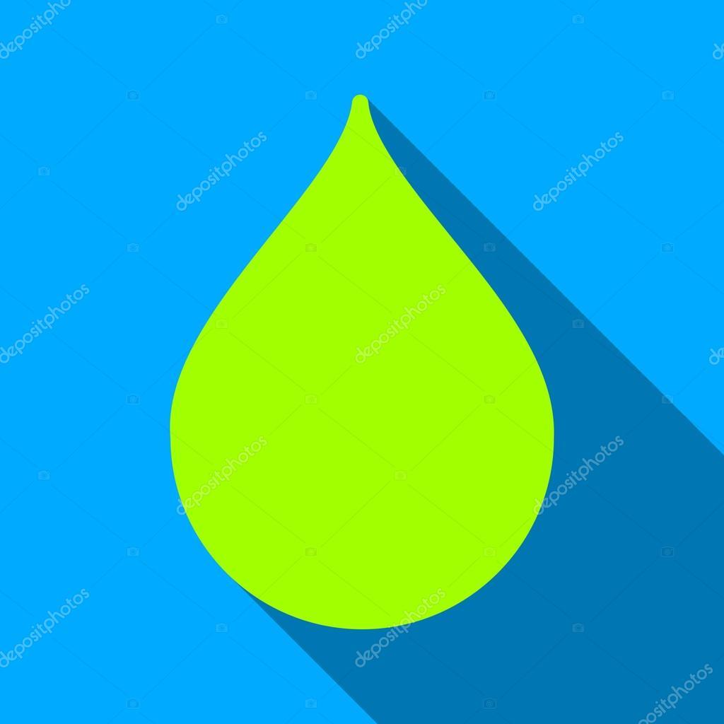 Drop Flat Long Shadow Square Icon