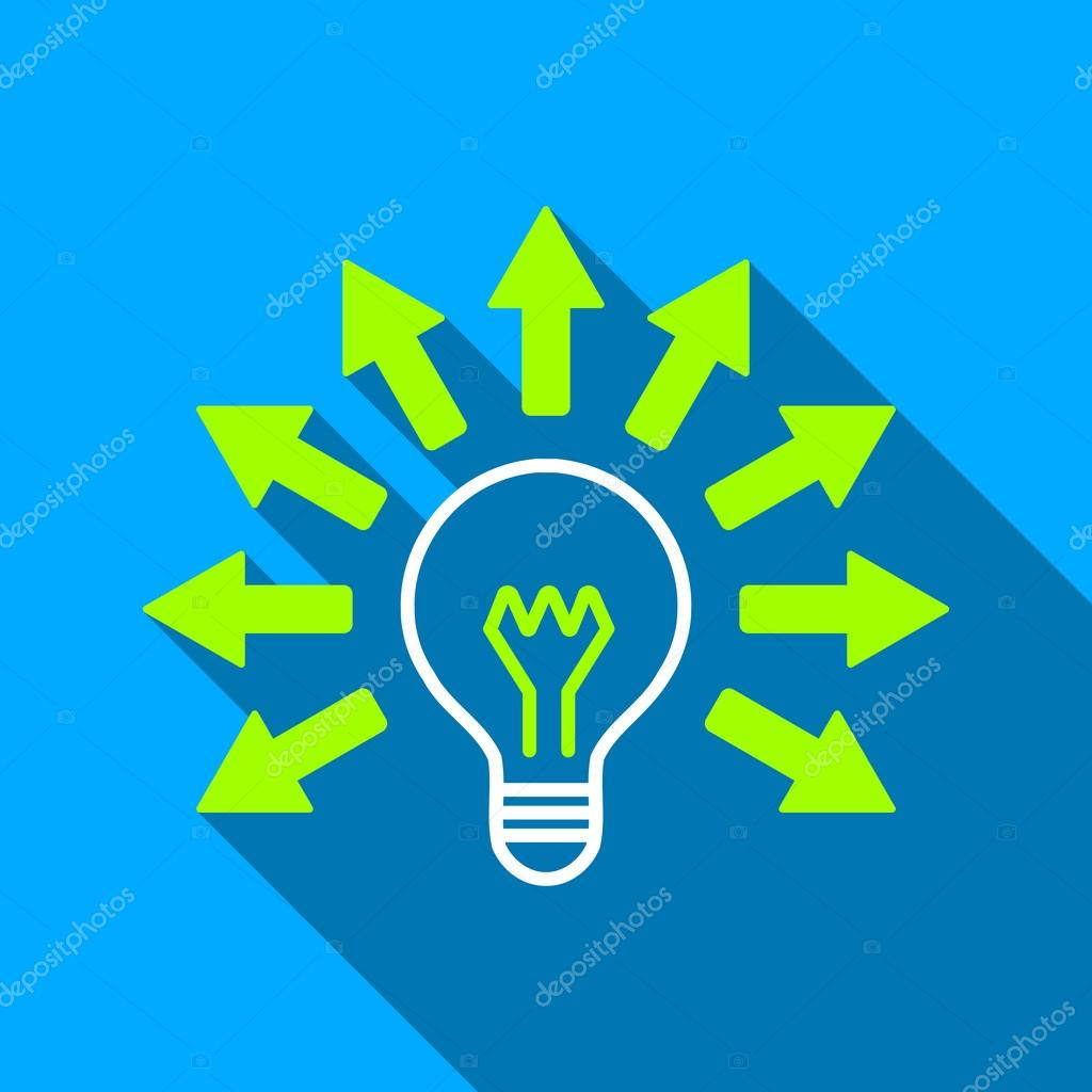 Electric light arrows flat long shadow square icon stock vector electric light arrows long shadow vector icon style is a flat light symbol with rounded angles on a blue square background vector by ahasoft buycottarizona Choice Image