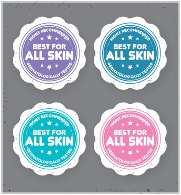 Best For All Skin  sticker.
