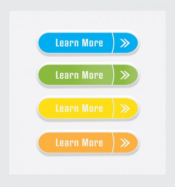 Learn More vector Buttons set.