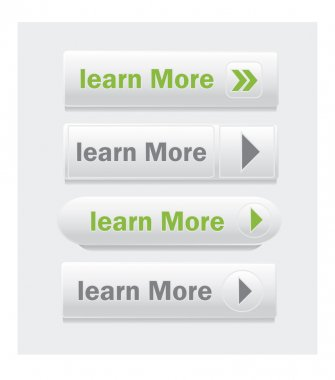 Learn More vector web Buttons set.