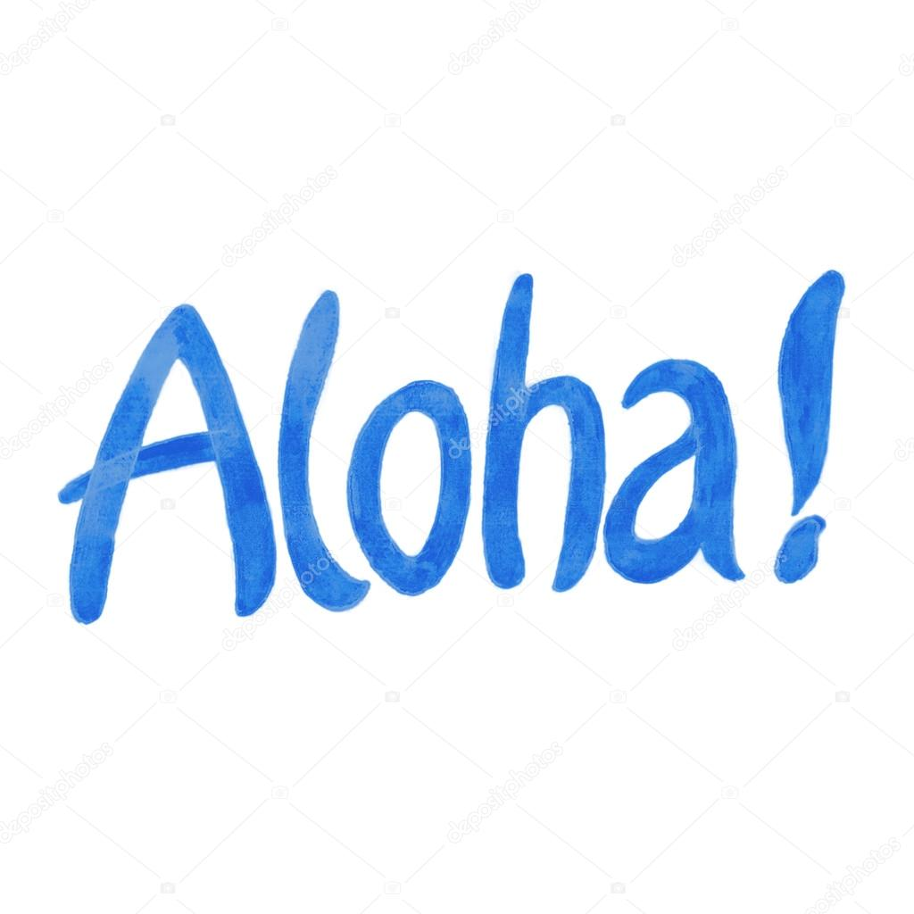 Aloha hawaiian greeting stock photo daryageraskevich 93816858 hawaiian greeting stock photo m4hsunfo