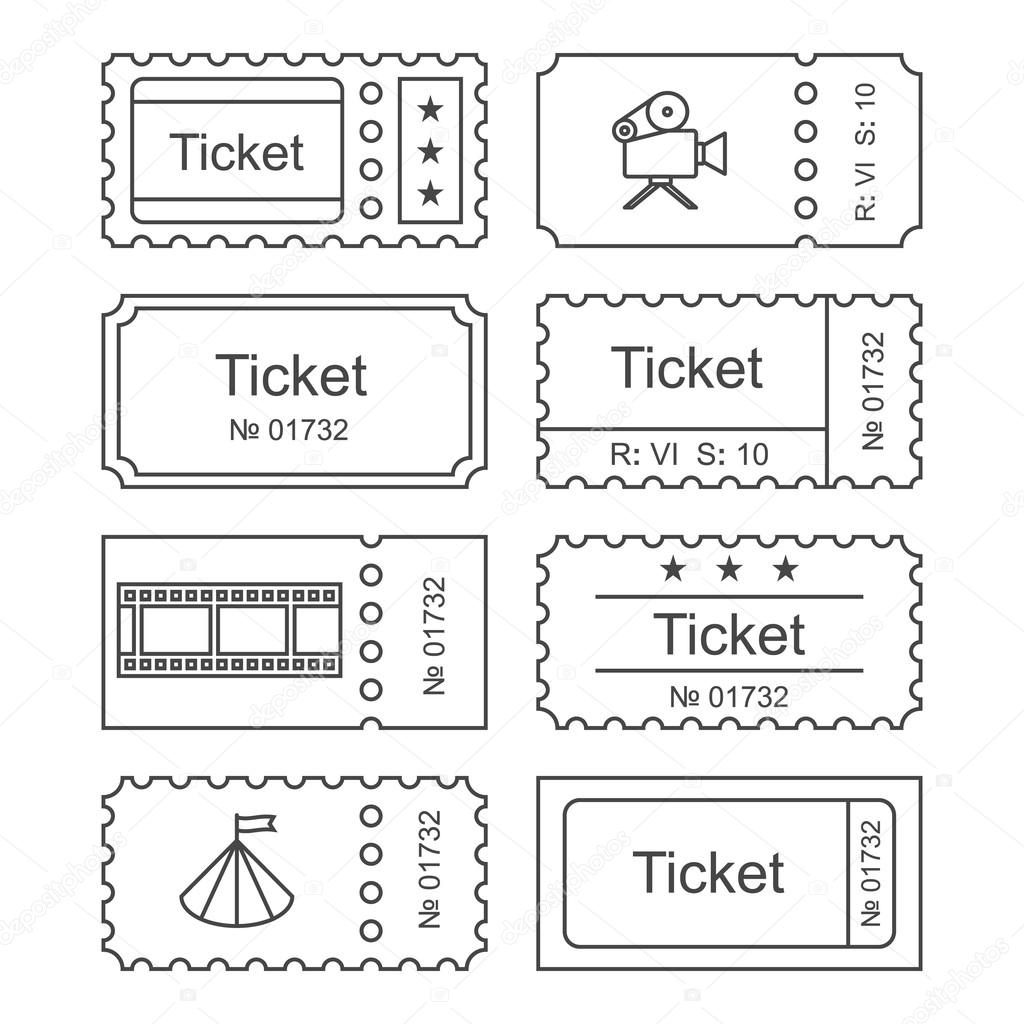 Ticket set icon — Stock Vector © fx218 #102514298