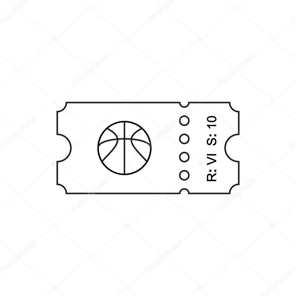 Ticket-Gliederung-Symbol — Stockvektor © fx218 #107479240