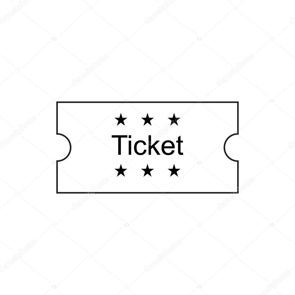 Ticket-Gliederung-Symbol — Stockvektor © fx218 #111074700